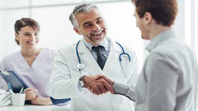 Doctor delivering excellent patient care