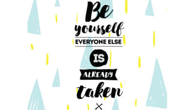 quote saying be yourself, a career advice from a Healthcare Consulting Firm