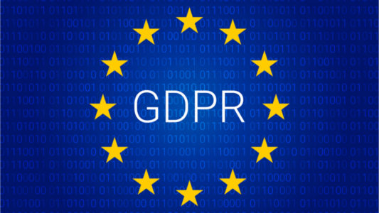 Image of the GDPR logo and European Stars